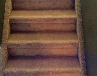 Stairs and stringers in carpet